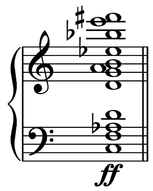 Inscape (Copland) - Image: Copland Inscape opening eleven note chord