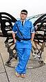 Cosplayer of Kankichi Ryotsu, Kochikame at PF26 20170415a.jpg