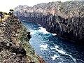 Costa das Quatro Ribeiras, formação rochosa, Praia da Vitória, ilha Terceira, Açores.JPG