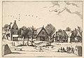 Country Village, archers in the foreground from Multifariarum casularum ruriumque lineamenta curiose ad vivum expressa MET DP825664.jpg