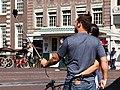 Couple selfie stick Konigssluis Amsterdam 2016-09-13-6621.jpg