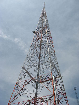 WHIO (AM) - The Cox Enterprises broadcasting tower located outside the station in Kettering, Ohio.