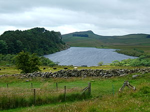 Crag Lough - Image: Crag Lough from the east