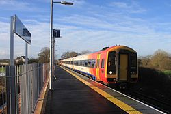 Cranbrook - SWT 159102+159014 arrivig from Exeter.JPG