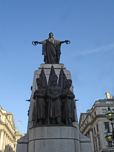 Crimean War Memorial at Waterloo Place, St James's, London CrimeaWarMemorialLondon.jpg