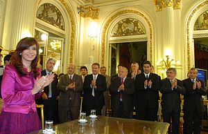 Presidency of Cristina Fernández de Kirchner - The President in a meeting with the nation's governors.