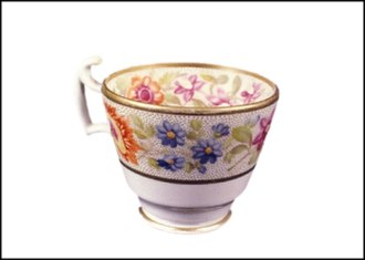 The Johnston Collection - Minton Potteries, cup, circa 1811, The Johnston Collection. The first object acquired by William Johnston