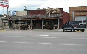 Custer, South Dakota - Shop in Custer main street 2006