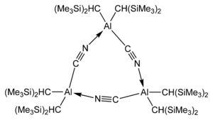 trimeric bis[di(trimethylsilyl)methyl]aluminium cyanide