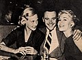 Cynthia Lemmon, Jack Lemmon and Kim Novak, 1955.jpg