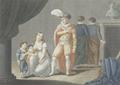 D. Ignês mostrando seus filhos ao Rey - desenho de Charles-Abraham Chasselat gravado por J. Duthé.png