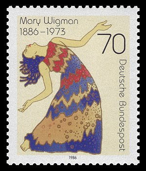 Mary Wigman - Postage stamp marks 100th year of Wigman's birth