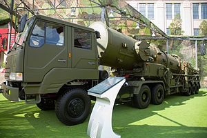 DF-21 - DF-21 and transporter erector launcher vehicle at the Beijing Military Museum.