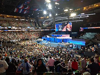 2016 Utah Democratic caucuses - Utah delegation participates in the roll call vote at the 2016 Democratic National Convention
