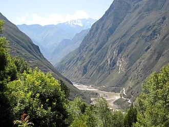 Dadu River (Sichuan) - The Dadu River in Danba County