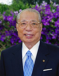 Daisaku Ikeda president of Soka Gakkai International