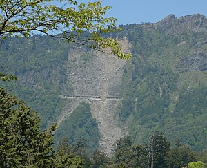 Alishan Forest Railway - A damaged portion Alishan Line visible from Alishan National Scenic Area.