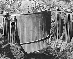 The rarely-seen upstream face of Hoover Dam, M...