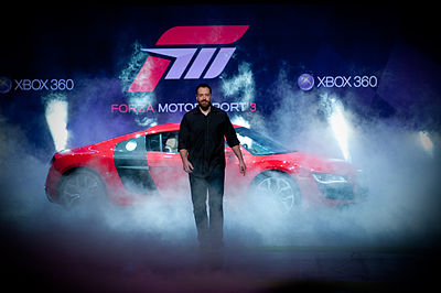 Dan Greenawalt unveiling Forza Motorsport 3 at E309.jpg