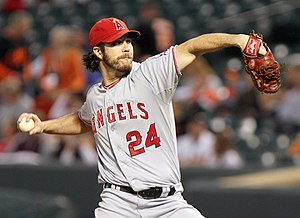 Dan Haren - Haren with Angels in 2011