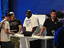 Dan Henderson, Big Black and John McCarthy - E3 Expo 2010 - June 17, 2010 - Los Angeles.jpg