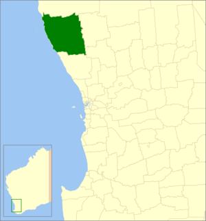 Shire of Dandaragan - Location in Western Australia