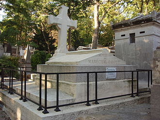 Louis-Nicolas Davout - Tomb of Marshal Davout at Pere Lachaise in Paris