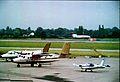 De Havilland Canada DHC-6 G-MAIL Air Ecosse, Manchester, August 1982. (5523224737).jpg
