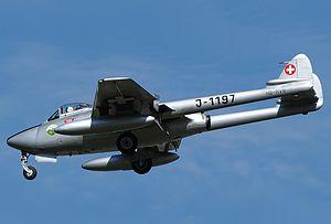 Fliegerstaffel 3 - Image: De Havilland Vampire Mk.6, Private JP7211063