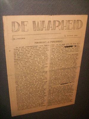 De Waarheid - Cover of De Waarheid, edition of 31 october 1944