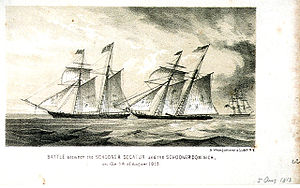 Capture of HMS Dominica - Image: Decatur vs Dominica