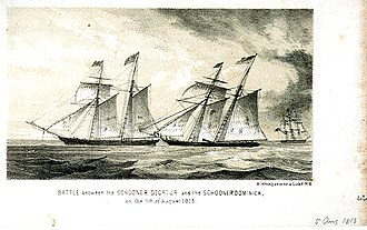 Capture of HMS Dominica - Image: Decatur vs Dominica