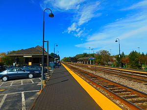 Deerfield station - Deerfield station in October 2015.
