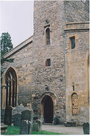 St Mary's Priory Church, Deerhurst - Detail of tower