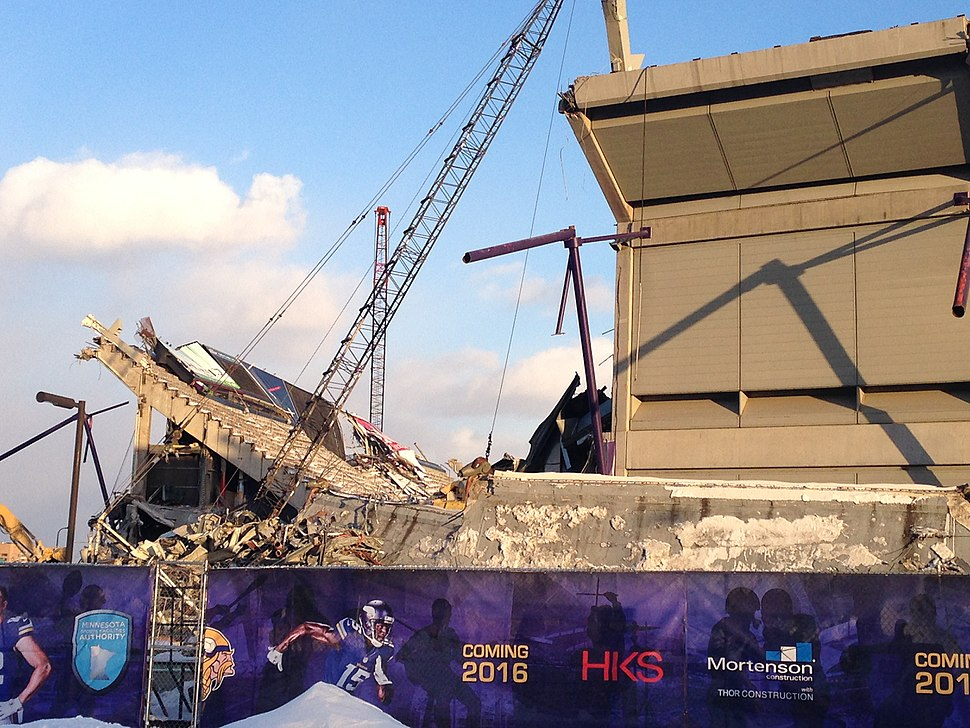 Demolition of the Metrodome