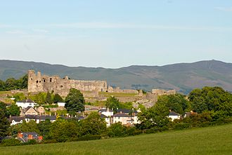Denbigh Castle - The castle is sited on a rocky promontory in the Vale of Clwyd.
