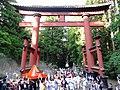 Departure of Oyama mikoshi.Yoshida Fire Festival.JPG