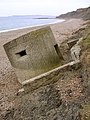 Derelict pillbox east of Redcliff Point, Weymouth Bay - geograph.org.uk - 121720.jpg