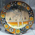 Deruta, piatto con ercole e anteo, 1490-1500 ca..JPG