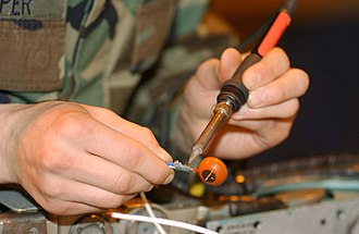 Soldering - Desoldering a contact from a wire