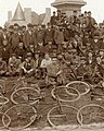 Detail, 1892 Bicyclists pose near Frank Blair statue, Forest Park, St Louis. MoHIST PHO 10223 (cropped).jpg