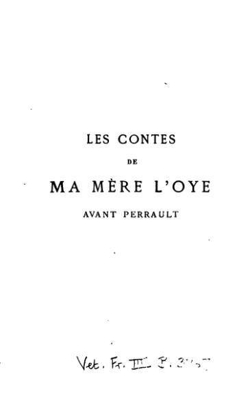 File:Deulin - Les Contes de ma mère l'Oye avant Perrault.djvu