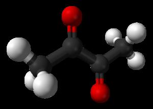 Diacetyl - Image: Diacetyl 3D balls