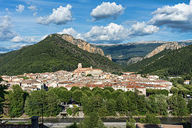 A general view of Digne-les-Bains in 2014