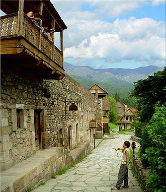 Dilijan - The historic Sharambeyan street renovated through the efforts of the Tufenkian Foundation of Cultural Heritage