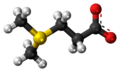 Dimethylsulfoniopropionate zwitterion 3D ball.png