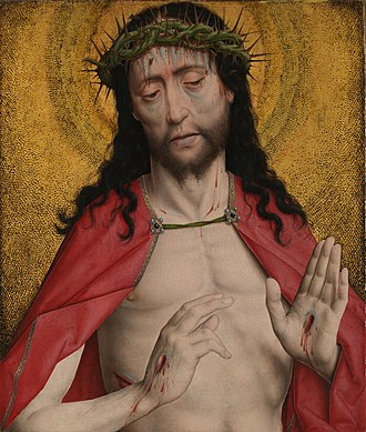 Man of Sorrows - Image: Dirk Bouts Christ Crowned With Thorns