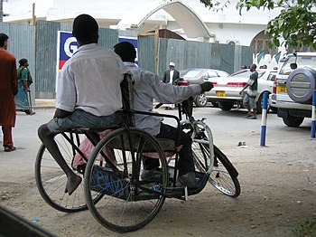 Two poor disabled Tanzanians in Dar es Salaam ...