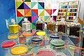 Display of colour pigments at NTM museum, Prague.jpg