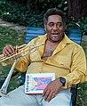 "Dizzy Gillespie holding memoir ""To Be or Not to Bop"".jpg"